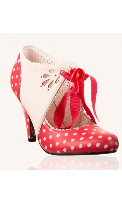 Red And White Polka Dot Heels